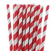 27 colores ecológicos paja de papel de pajas de beber del papel rayado para la fiesta de halloween navidad potable (25 piezas)