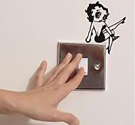 Недорогие -Винтаж Наклейки Простые наклейки Наклейки для выключателя света, Винил Украшение дома Наклейка на стену Стена