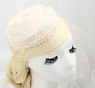 Women's Flower Girl's Lace Imitation Pearl Flannelette Headpiece-Wedding Special Occasion Outdoor Fascinators Hats