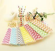 Недорогие -полосатые бумажные соломинки (набор из 25)