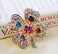 cheap -Lucky Doll  Diamonade Gemstone & Crystal Zirconia Four Leaved Colorful Brooch