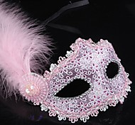 Принцесса Сказка Маски Женский Хэллоуин Карнавал Фестиваль / праздник Костюмы на Хэллоуин Розовый Черный Синий Золотой Однотонный