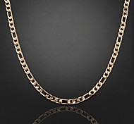 cheap -Silver Plated Gold Plated Chain Necklace - Silver Plated Gold Plated Necklace For Wedding Party Daily Casual Sports