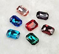 Недорогие -Z&x® 10 * 14мм 30 шт моды DIY цветное стекло Flatback (случайный цвет)