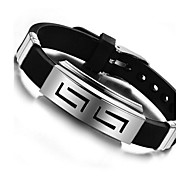 cheap -Men's ID Bracelet - Personalized Unique Design Jewelry Black Bracelet For Daily Casual