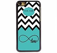 Недорогие -персональный подарок морская волна и любовь дизайн металлический корпус для iPhone 5с