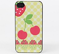 Cherry Style Protective Back Case for iPhone 4/4S