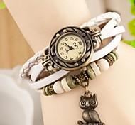 cheap -Women's Quartz Wrist Watch Leather Band Vintage Bohemian Owl Fashion Multi-Colored