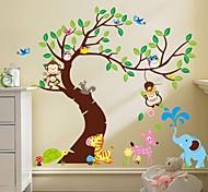 Недорогие -zooyoo® съемный Обезьяна на наклейки дерево стены горячих наклейки продажи стен для домашнего декора