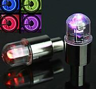 Luces para bicicleta Luces Tiltilantes para Tapas de Válvulas Ciclismo Despertador AG10 pila de botón Lumens Batería Ciclismo-FJQXZ