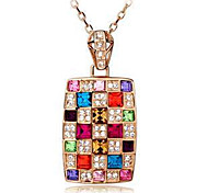 cheap -Women's Crystal Austria Crystal Pendant Necklace  -  Screen Color Necklace For