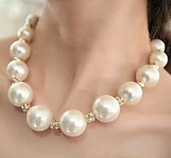 cheap -Women's Ball Pearl Rhinestone Choker Necklace Pearl Necklace  -  Luxury Statement Necklace For Wedding Party Special Occasion