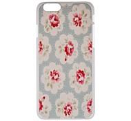 cubierta clara de la PC de la flor clara para apple iphone 6 plus iphone case