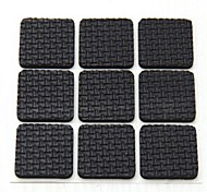 18 PCS Viscous Square Tables and Chairs Leg Anti-skid Protective Pad (Random Color)