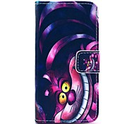 COCO FUN® Purple Carton Cat Pattern PU Leather Full Body Case with Film and Stand and Stylus for iPhone 5/5S