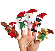 Finger Puppet Animals Toys Santa Suits Elk Snowman Christmas Toys Talking Kids Girls Boys Pieces