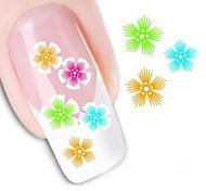 Недорогие -передачи воды печати ногтей наклейки xf1019