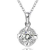 Женский Ожерелья-бархатки Ожерелья с подвесками Заявление ожерелья Кулоны Круглый Геометрической формы Синтетические драгоценные камни