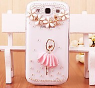 cheap -Case For Samsung Galaxy Samsung Galaxy Case Rhinestone Transparent Pattern Back Cover 3D Cartoon PC for S7 edge S7 S6 edge plus S6 edge