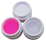 cheap -3PCS White Transparent Pink Color 14ML Nail Art UV Gel