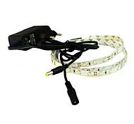 Недорогие -jiawen® 1м 4w 60x3528smd 6000-6500K белый / теплый белый привело гибкой полосы света + 1а питания (переменного тока 110-240В)