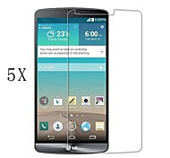 [5-Pack]Professional High Transparency LCD Crystal Clear Screen Protector with Cleaning Cloth for LG G3