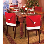 1pc Christmas and Party Decorations Santa Red Hat Chair Back Covers