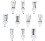 cheap -10pcs 5W 500-600 lm G9 LED Corn Lights T 56 leds SMD 5730 Warm White Cold White AC 220-240V