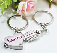 cheap -Personalized Engraving Stone Mandrel Metal Couple Keychain