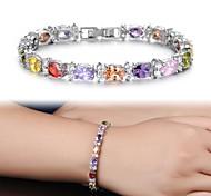 AAA Zircon Fine Plating Platinum Diamond Bracelet Christmas Gifts