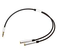 0,3 0.984ft один аудио 3,5 мм мужчин и двух аудио 3,5 мм женского кабель наушников