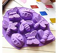 8 отверстий форма силикона формы насекомого крупноформатная форма торта, инструмент для выпечки