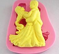 Dance Fondant Cake Silicone Mold Cake Decoration Tools,L7cm*W8.7cm*H1.6cm