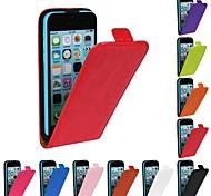 флип-открывать лошадь зерна искусственная кожа полный случай тела для iPhone 5с (разные цвета)