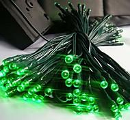 Недорогие -12m 100 привели солнечные рождественские огни строка лампа lndoor открытый проблесковый свет полосы - зеленый