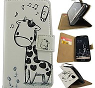 Cartoon Deer Design PU Leather  Full Body Case with Stand for Samsung Galaxy S4 I9500