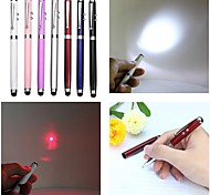 lt-4-in -1 Funktion Kugelschreiber kapazitive Touch-rote Laser-Pointer (5mw.650nm.3 x Taste cell.multicolor)