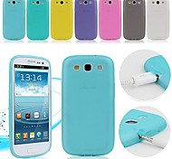 abordables -TPU Soft Case with Dust Plug for Samsung Galaxy S3 I9300 (Assorted Colors)