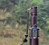 LED Flashlights / Torch Handheld Flashlights/Torch LED 1198 lm 5 Mode Impact Resistant Nonslip grip Rechargeable Waterproof Tactical for