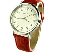 Women's Casual Watch Quartz PU Band Flower Black Red Brown Strap Watch