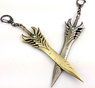 cheap -Weapon Inspired by LOL Cosplay Anime/ Video Games Cosplay Accessories Weapon Silver / Cyan Alloy Male