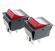 cheap -4-Pin Rocker Switch Rocker Switches with Red Light Indicator (2PCS)