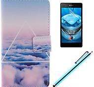 только красивый дизайн облако искусственная кожа Полный чехол для тела с защитой экрана, пера и быть Sony Xperia м2