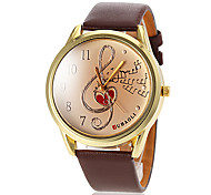 Women's Musical Note Pattern PU Band Quartz Wrist Watch (Assorted Colors) Cool Watches Unique Watches Fashion Watch Strap Watch