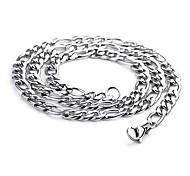 Недорогие -персональный подарок из нержавеющей стали выгравирован цепь ширина ожерелье 0.7cm