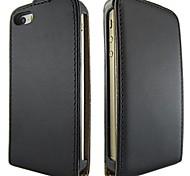cor sólida abrir cima e para baixo de couro pu estojo de proteção de corpo inteiro para iphone 5c