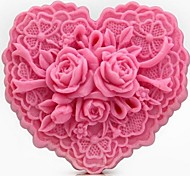 Heart Shaped Flower DIY Fondant Cake Chocolate Silicone Mold Cake Decoration Tools,L8.5cm*W7.6cm*H4cm