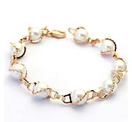 Недорогие -кратким стиль моделируется жемчужный браслет 18-каратного розового / белого золота гальваническим высокое качество ювелирных изделий