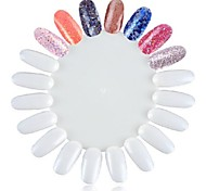 Blancs conseils d'art bout des ongles des ongles faux 1pc pour nail art ongles pratique dispay polonais pratique du maquillage des ongles