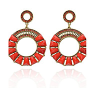 economico -Women's Fashion  Vintage  Circle Diamante Earrings(More Colors)